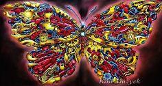 我很瘋狂地繪了ㄧ隻「鋼鐵蝴蝶」 Iron Butterfly  著色本:imagimorphia 作者:Kerby Rosanes  全程使用色筆:卡達Caran dAche 專家級水性鉛筆、Faber Castell Pastel粉彩 #imagimorphia #kerbyrosanes #butterfly #carandache #carandachepencils #carandachesupracolor #fabercastellpastels #adultcoloringbook #coloringbook #coloringbookforadults