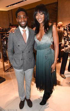 Dapper dude: Tinie Tempah was dressed to impress as he donned a grey ensemble for the even...