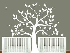 Childrens wall decal  tree silhouette with by ModernWallDecal, $162.00