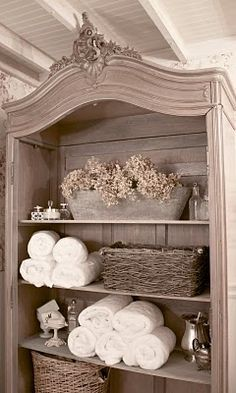 I want the top 1/2 of something like this on the counter where the vanity is, in between our sinks!