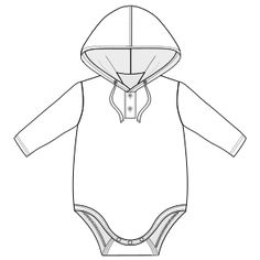 One-piece baby clothes patterns. www.patronesymoldes.com