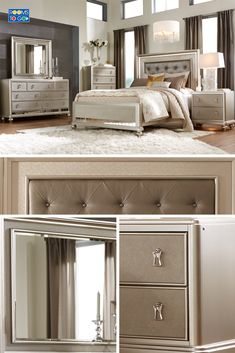 The chic Paris collection combines lavish design with smart organizational features and indulgent comfort to create your dream bedroom. Shop this bedroom set and many more now at roomstogo.com.