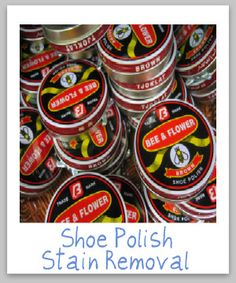 How to remove shoe polish stains from clothing, upholstery and carpet {on Stain Removal 101}