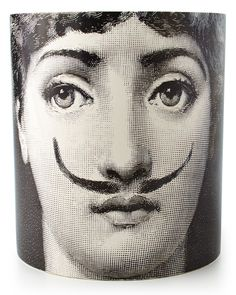 Fornasetti Moustache Large Three-Wick Scented Candle - Neiman Marcus