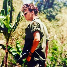 Johnny Depp in Platoon Backstage