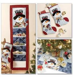 M6454 | Stocking, Runner, Tree Skirt and Card Holder | Pearl Louise Designs | McCall's Patterns
