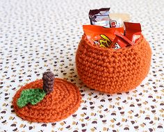 Crochet Pumpkin Treat Bowl pattern by Meredith Crawford