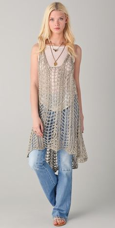 Crochet a long tunic