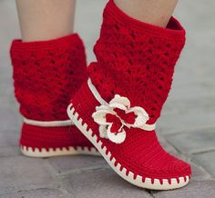 Crochet Boots for the street Butterfly Orange Outdoor Boots Spring Boots Made to Order by JoyForToes on Etsy Crochet Slipper Boots, Crochet Slippers, Hand Crochet, Hand Knitting, Knit Crochet, Video Interview, Cheap Nike Shoes Online, Spring Boots, Summer Boots