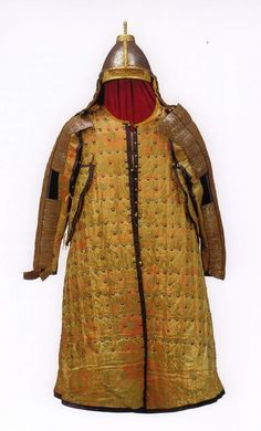 Brigandine armor of Nurhachi (努爾哈赤), which united the Manchu tribes, and whose successors went on to found the Qing Dynasty. This particular suit of was a 18th century reproduction of the original armour, commissioned by Qianlong Emperor (1735 – 1796).