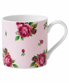 Royal Albert Dinnerware, Old Country Roses Pink Mug