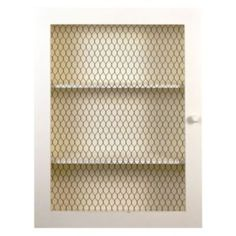 Belle Maison Chicken Wire 3-Shelf Wall Cabinet