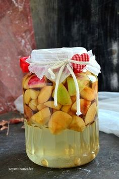 How to Make Apple Cider Vinegar Make Apple Cider Vinegar, Smoothie, Yogurt, Turkish Recipes, Pasta, Homemade Beauty Products, No Cook Meals, Slushies, Cucumber