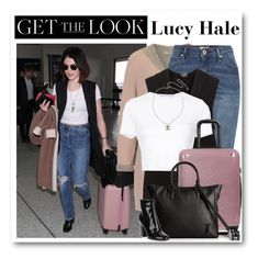 """""""Get the look: Lucy Hale"""" by alexa-girl2 ❤ liked on Polyvore featuring Betty Barclay, River Island, Rosetta Getty, CalPak, Chanel, Armani Exchange and Gianvito Rossi"""