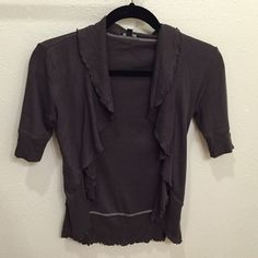 Frilly Express Cardigan Worn but in good condition. Lightweight. Express Sweaters Cardigans