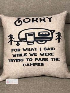 Camping Pillow decorative throw pillowfaux burlapPillow
