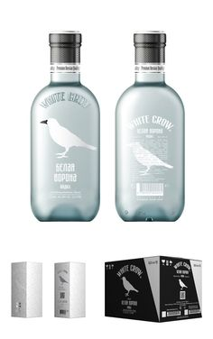 White Crow Vodka branding by Alexandrov Design House 02 White Crow Vodka branding by Alexandrov Design House Cool Packaging, Beverage Packaging, Bottle Packaging, Brand Packaging, Alcohol Bottles, Vodka Bottle, Premium Vodka, Tequila, Liqueur