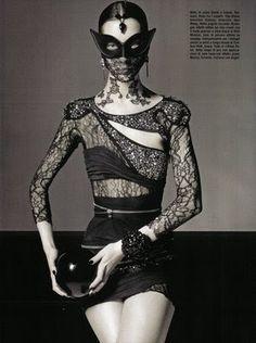 Fashion War: Gothic Fashion of Vogue Italy vs Flair Magazine   Fashion-O-Lic