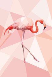 Vita Sun - Flamingo, 2017 Digital Art 90 x 60 cm Pink Flamingo Wallpaper, Flamingo Art, Pink Flamingos, Flamingo Illustration, Profile Photography, Trippy Wallpaper, Sun Art, Digital Art, Design Inspiration