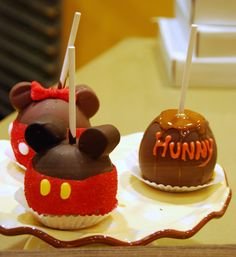 Minnie, Mickey and Hunny Pot Caramel Apples!