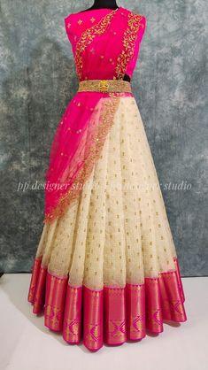 Party Wear Indian Dresses, Party Wear Lehenga, Indian Gowns Dresses, Indian Fashion Dresses, Formal Dresses, Half Saree Designs, Fancy Blouse Designs, Bridal Blouse Designs, Saree Blouse Designs