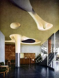 Isamu Noguchi, Ceiling in the lobby of Harris Armstrong's Magic Chef Building, 1946