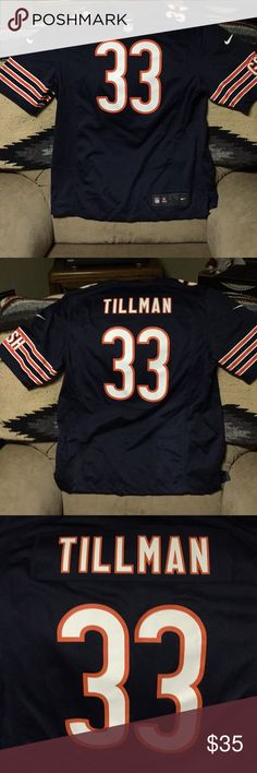ecd0e1ea1de Charles Tillman Chicago Bears Jersey Heat Pressed Name and Numbers.  Excellent Quality. Like new