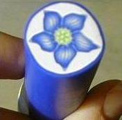 Polymer Clay Polyzine - pcPolyzine April 2001 - Balloon Flower Cane by Darlene Kulczycki