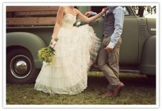 I may not be super country but i definitely want to drive away in an old truck on my wedding day :D
