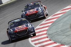 Timmy Hansen and Davy Jeanney Peugeot, Barcelona, Racing, Vehicles, Rally, Running, Auto Racing, Rolling Stock, Barcelona Spain