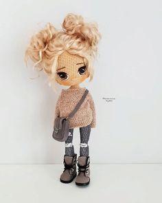 Crochet Doll Pattern, Crochet Toys Patterns, Amigurumi Patterns, Stuffed Toys Patterns, Knitted Dolls, Crochet Dolls, Fairy Dolls, Cute Crafts, Cute Crochet