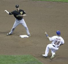 Neil Walker in Pittsburgh Pirates v Milwaukee Brewers