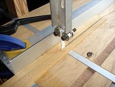 Some time ago, I needed to make a cut with the jigsaw in inverted position, so I simply mounted it in a table. Best Jigsaw, Jigsaw Table, Stainless Steel Fittings, Woodworking Jigsaw, Galvanized Steel, Dremel, A Table, Wood Working, Workshop