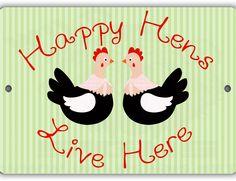 Happy Hens Indoor/Outdoor No Rust No Fade Aluminum Chicken Coop Sign Chicken Coop Decor, Chicken Coop Signs, Chicken Cages, Backyard Poultry, Backyard Chicken Coops, Chickens Backyard, Automatic Chicken Waterer, Chicken Diapers, Button Quail