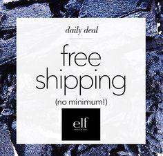 Free shipping at e.l.f.
