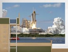 Space Shuttle Launch I Large Mural http://www.muralsforkids.com/products/Space-Shuttle-Launch-I-Large-Mural.html