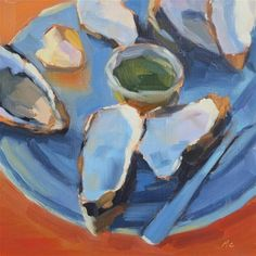 """Oysters, After"" - Original Fine Art for Sale - © Michael Chamberlain"