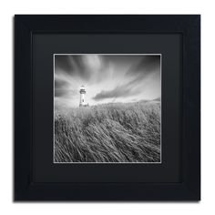 Yaquina Lighthouse III by Moises Levy Framed Photographic Print in Black