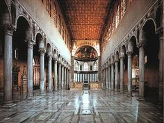 Interior of Santa Sabina basilica in Rome (5th century CE) -- IMHO, purity, brightness and elegance of early christian architecture at their best