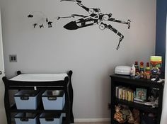 My nursery will have an X-wing fighter. Oldest brother will be so proud.