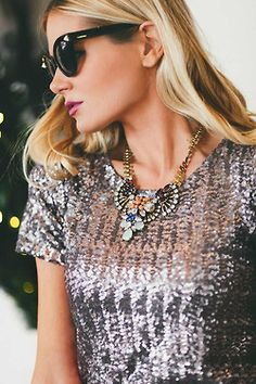 photography fashion style sparkly sparkles fashion blog necklaces sparkle blogger necklace sequins sequin fashion and beauty fashion and style blogger style big necklace barefoot blonde fashion and accessories