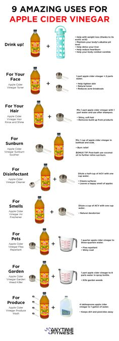 9 Uses for Apple Cider Vinegar #healthy