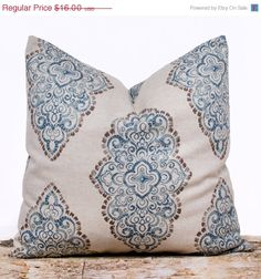 For a welcome addition to your home decor, this blue diamonds 16 x 16 inch pillow case will give your space a breath of refinement. It has been custom $14.40