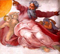 Michaelangelo painting of God
