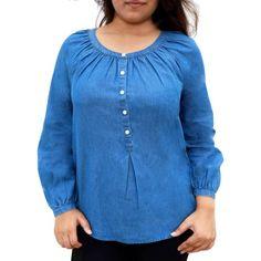 Faded Glory  Women's Popover Denim Shirt