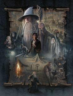 Una de mis sagas favoritas El Señor de los Anillos, en este caso es El hobbit