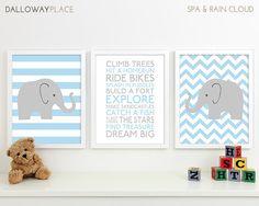 Baby Boy Nursery Art Prints Boy Nursery Decor by DallowayPlaceKids