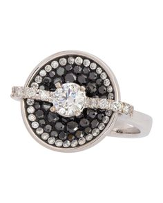 Black & white diamond ring from the Opus collection. By Pleve.