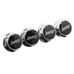 NEW 4X Car License Plate Frame Security Screw Bolt Caps Covers For JEEP Black
