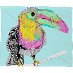 Casey Rogers Toucan Fleece Throw Blanket | DENY Designs Home Accessories